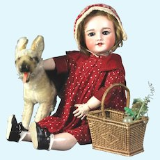 "Vintage doll size 9"" German Steiff  German shepherd dog"