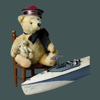 "Very OLD Sweet 11"" French SAILOR bear made by Steiff bears"