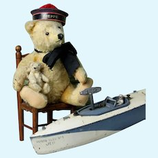 """Very OLD Sweet 11"""" French SAILOR bear made by Steiff bears"""