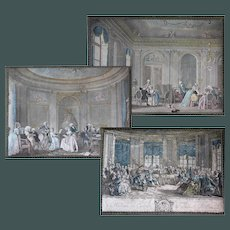 "Extraordianary set off 3 large 18"" Nineteenth Century French  Bonbon Lithograph Build Up boxes"