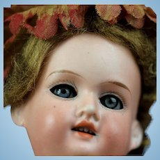 """Beautiful small Armand Marseille 390 Antique Bisque Doll 10"""" Blue Eye & fully jointed body"""