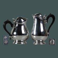 Great design Antique Art Deco solid silver Christofle set of jugs