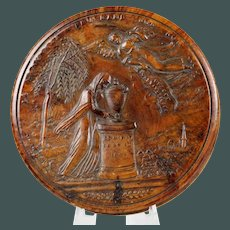 Empire French Pressed Wood Snuff Box, Early 19th Century King Louis XVIII