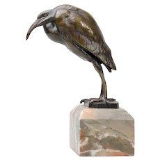 Amazing antique Bronze Ibis Bird detailed sculpture
