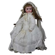 Antique German bisque ORIGINAL BRIDE 17.7 inch doll, Model 1078 by Simon and Halbig