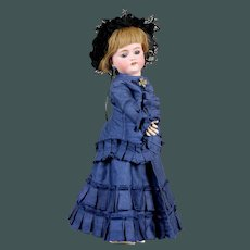 "18"" Exceptional elegant fashion bisque doll bebe blue eyes cabinet size  Simon & Halbig 1078"