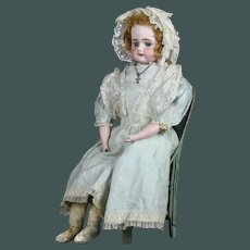 "Sweet Heart 19th century huge 26.5"" and big blue eyes antique Bisque German doll Bahr & Proschild"
