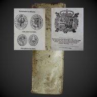 """Extremely rare money change book on European silver & gold coins Antwerp 1633 Hieronymus Verdussen """"Ordannancie ende instructie"""""""