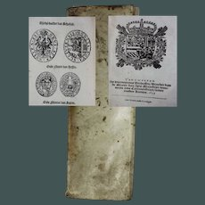 "Extremely rare money change book on European silver & gold coins Antwerp 1633 Hieronymus Verdussen ""Ordannancie ende instructie"""