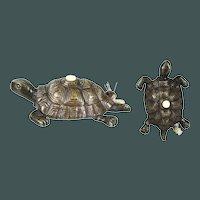 Great VIENNA BRONZE antique BUTLER - service bell Turtle