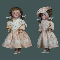 "Cabinet size 18.9"" antique bigger sister from Bleuette doll Bebe SFBJ, Unis France 301 bisque head"