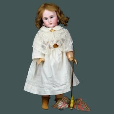 "23 ""Dreamy Angel-Face Bebe Jumeau antique French bisque doll"