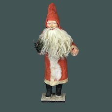 "Amazing 10.5"" antique German Santa Claus candy container with Christmas tree 1900-1920"