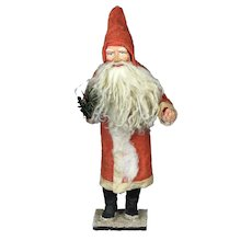 """Amazing 10.5"""" antique German Santa Claus candy container with Christmas tree 1900-1920"""