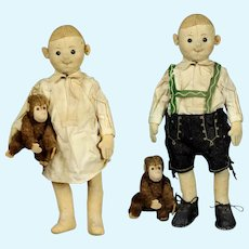 Antique 1915 Steiff felt Anton Bavarian boy doll Character doll