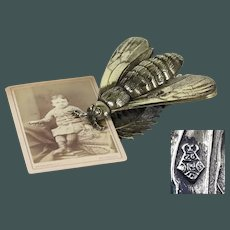 Rare Antique Marked: Year 1875  Honey bee paper clip/ letter holder