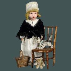 """All Original  17"""" French CLELIA felt cloth doll"""