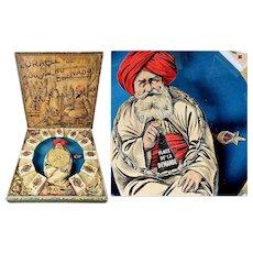 Rare antique French Magnetic game L. Saussine Paris l' oracle du Moustachu EBENASSI 1895