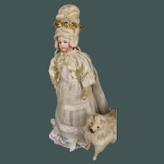 """MAGNIFICENT Marked, 12"""" Painted-Eyes FG 2 French Princess Fashion Doll Francois Gaultier"""