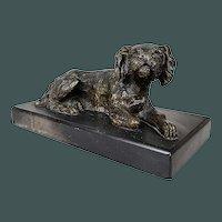 Antique 19th century figurine hunting dog from Vienna bronze Austria paperweight