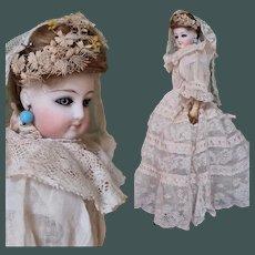 Exquisite Parisian Jumeau Fashion doll Poupee peau all original Costumed French doll