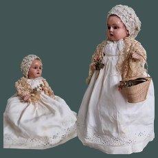 "Antique 11"" wood doll ""Tout en Bois"" Bebe German made for French market 1900"