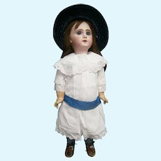 """25""""(65cm)French jumeau bebe 11, with white dress+  sleeping gown dress + table de coiffer"""