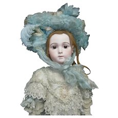 "33""Extraordinary antique biggest doll jumeau size 15""JUMEAU  TRISTE ""  in stunning season clothes....A sweet  DREAM!!"