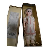 "All original bebe Jumeau size 9 20""(50cm) exhibition bisque antique doll in jumeau traders box  size 9"