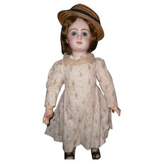 "25""(60cm ) french bebe JUMEAU size 11, boxed set  jumeu 11,  in beautiful promenade dress hit straw hat."