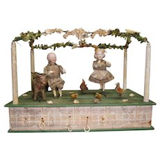 "Antique original German handwind  Automaton by zinner&Sohne ""the Bavaria  farm festivity"""