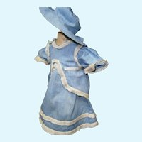 Blue Dress 2 pieces with matching  hat