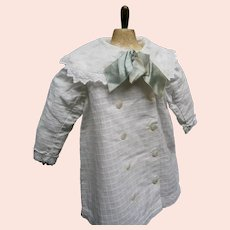 White waffle-weave cotton coat Dress