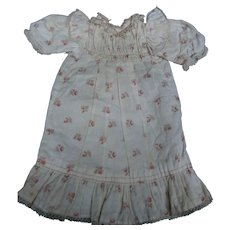 original BBEB JUMEAU chemise, White cotton dress with floral design