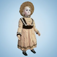 "Gorgeous superb 34""(89cm) large french antique bisque bebe Steiner , figure C, A/O.DRESS AU BON MARCHE  Store"