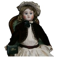 """29""""(73cm) Darling antique bebe STEINER FRENCH LEVER-EYES, perfect condition."""