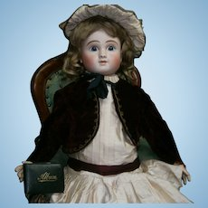 "29""(73cm) Darling antique bebe STEINER FRENCH LEVER-EYES, perfect condition."