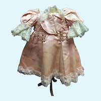 French antique doll`s dress from AU NAIN BLEU  for a size 9-10 bebe jumeau
