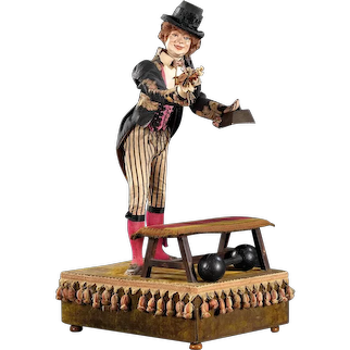 "37"" (92cm)  Extraordinary antique french automaton ""HERCULE  THE  WEIGHT  LIFTER""  BY Roullet -Decamps"