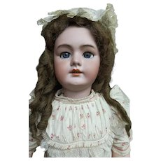 """36"""" (88cm) Excellent antique bebe JUMEAU open mouth """"TETE jumeau 15""""  in orig.chemise, marked shoes  and boxed set jumeau 15"""