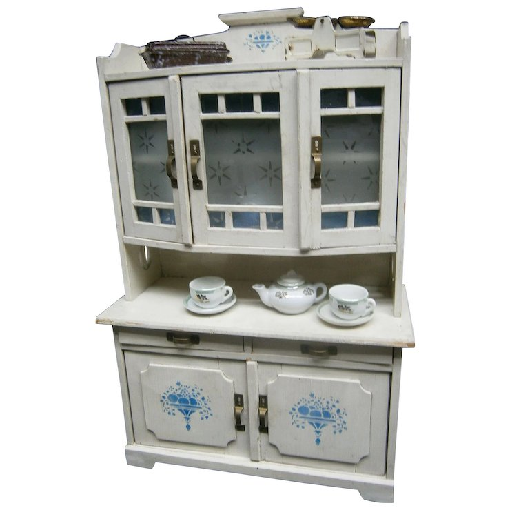 Genial Germany Antique Kitchen Furniture For Dolls Display , Antique Toy Handmade  With Accessories