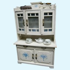 Germany antique kitchen furniture for dolls display , antique toy handmade with accessories