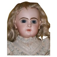 """25"""" Very Pretty French Bisque BeBE  by Emile Jumeau in Superb ORIGINAL  CONDITION/ chemise"""