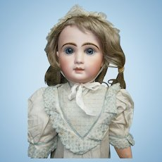 """23"""" (58cm) antique french bisque bebe by Emile JUMEAU B10L """"bebe louvre"""" commisioned for Au Lovre luxury  parisian dept. store in orig.chemise"""