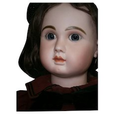 "Exceptional  biggest 39""(98CM)Grand French Bisque Bebe by Jules Steiner, Figure A, with LEVER-EYE A/O, greatest dressed."