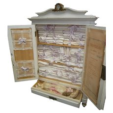 DREAM!!  spectacular antique French armoire Trousseau for french bebes, in original condition.