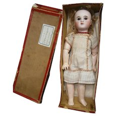 "MAGNIFIQUE!perfect antique French  original Bebe Steiner 10"" LE PETIT Parisien, original box-chemise-wig"