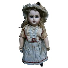 "14""(34cm)French antique bebe Jumeau size 4 , blue-eyed. straight wrist, orignal condition... just  say ...........oh la la !!!"