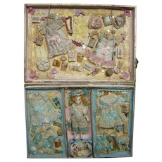 FRENCH  antique Etrennes presentation boxed set from  Au Louvre circa 1890
