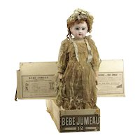 UNIQUE jumeau doll size 12 from the MARY MERRITT doll museum